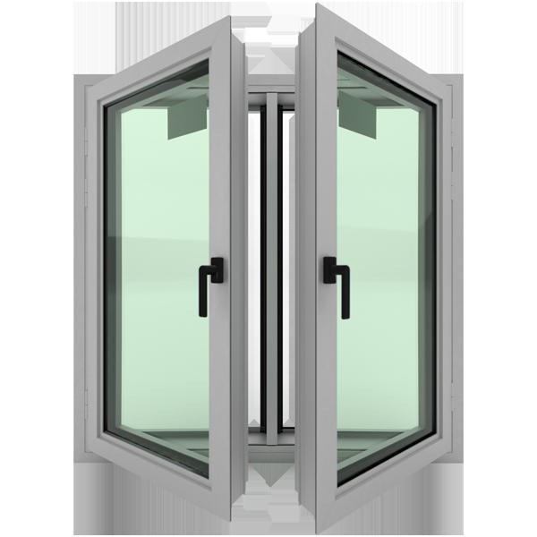 Aluminyum-çift-kanat-kursun-gecirmez-pencere